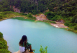 Panorama Keindahan Danau Hijau di Dharmasraya